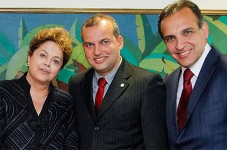 Eurípedes esteve com Dilma e o deputado Hugo Leal em novembro