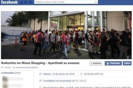 Rolezinho no Minas Shoppping atraiu a atenção de 650 pessoas na internet