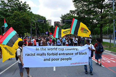 Manifestantes do movimento negro protestaram em São Paulo