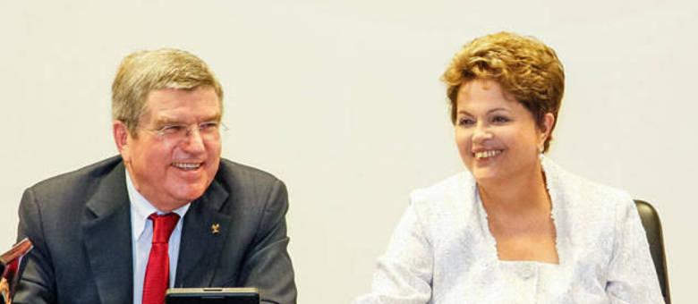 Thomas Bach saiu confiante da reunião que teve na terça-feira (21) com a presidente Dilma Rousseff