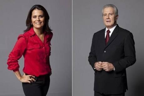 Adriana Araújo e Celso Freitas, os apresentadores do JR