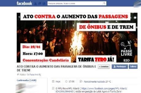 Mais de 3.400 pessoas confirmaram presença pela internet