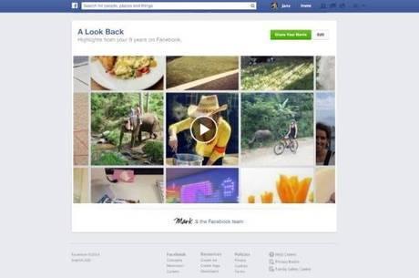 """Para usar a coletânea de fotos na animação em vídeo, basta o usuário acessar """"facebook.com/lookback"""""""