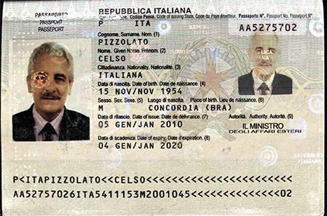 Pizzolato usava passaporte falso em nome do irmão morto