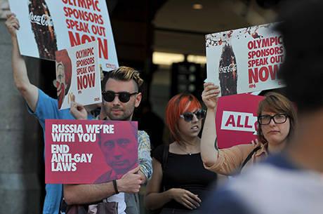 Australianos reforçaram protestos dos russos contra a lei que pune os homossexuais