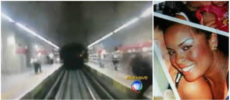 Maria da Conceição Oliveira, de 28 anos, foi empurrada na frente de um trem na manhã desta terça-feira (25)
