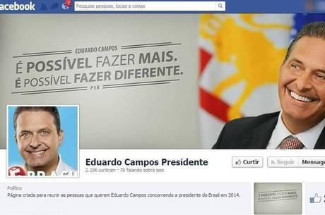 Página que promove Campos como presidente é seguida por mais 2 mil internautas no Facebook