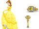 O anel de noivado de Bela tem safiras em amarelo e azul, rubi e ouro. O valor é R$ 7400