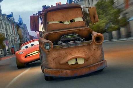 Guincho Mate e Relâmpago McQueen em 'Carros 2'