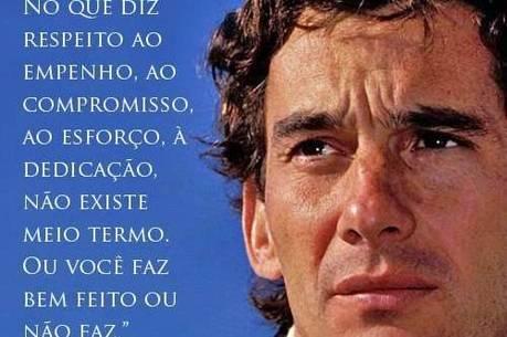 Foto com frase do Ayrton Senna foi a mais repercutida da fanpage do CNJ em 2013