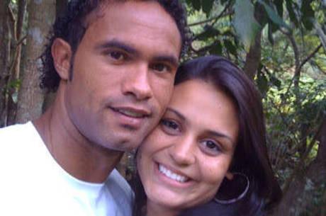 Bruno, com a mulher, a dentista Ingrid