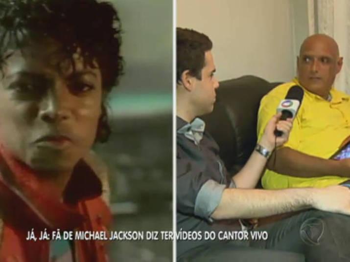 Na sequência, o jornalista não fugiu da pergunta quando foi questionado se acredita que Michael estaria realmente vivo.— Ele está vivo e eu tenho certeza disso!Qual a sua opinião sobre a morte de Michael Jackson? Clique aqui e responda!Assista ao vídeo e confira toda a reportagem com o jornalista no palco do Balanço Geral!