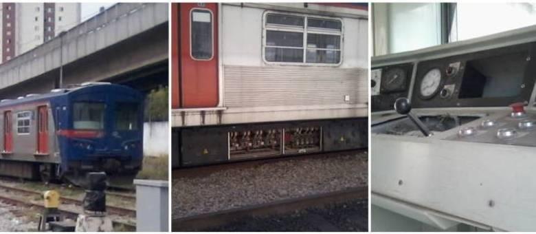 Peças das duas composições já foram retiradas. Segundo funcionários, elas são usadas para reparar outros trens