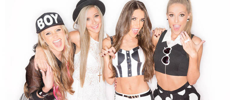 Da esquerda para a direita: Lola, Becky, Georgina e Milly, que formam a banda pop The Rosso Sisters