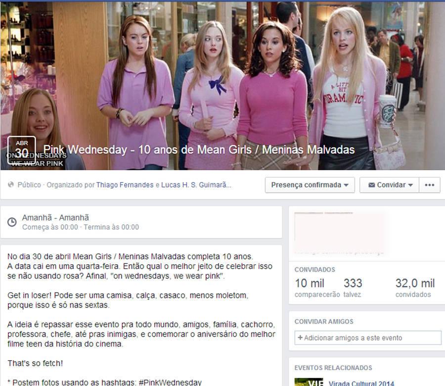 Hoje é dia de usar roupa rosa! Veja como os fãs de Meninas Malvadas comemoram os 10 anos do filme