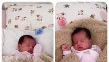 Que lindas! Gêmeas de Dentinho aparecem dormindo tranquilamente em foto na rede social
