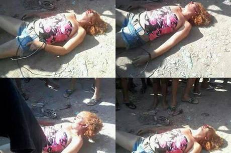 Fabiana foi imobilizada e agredida por dezenas de vizinhos