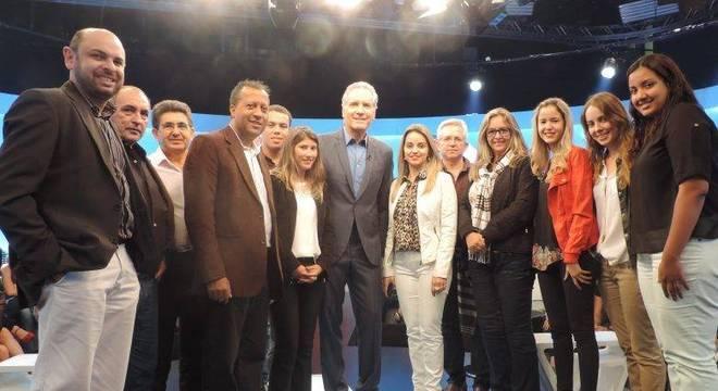Empresários participaram da gravação do programa Roberto Justus +, após ficarem na platéia do Programa da Tarde