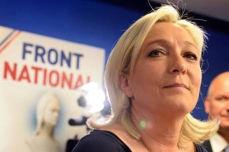 Candidata da extrema direita francesa, Marine Le Pen