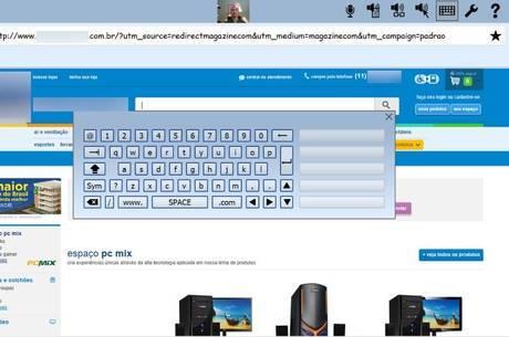 """O software possui soluções como substituição de teclado e mouse por meio do sistema """"hands-free"""""""