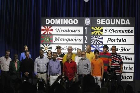 Sorteio aconteceu em festa da Liesa, na Cidade do Samba