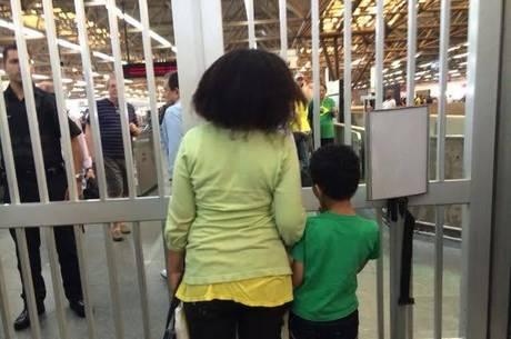 A professora Viviane Bento não conseguiu pegar o metrô