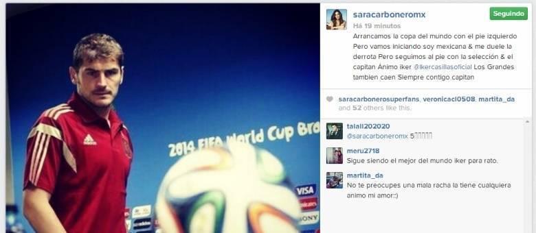 Foto com mensagem foi postada logo após o jogo em que a a campeã da Copa de f33551467d13d