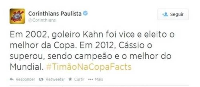 Corinthians aproveita Copa para mostrar que Cássio é melhor que Oliver Kahn