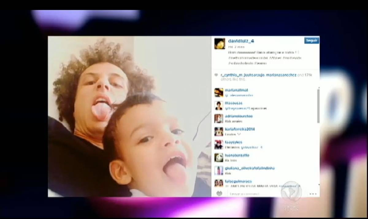 David Luiz posta vídeo com o sobrinho durante folga