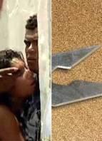 Jovem fez a própria esposa refém usando um grampo de muro