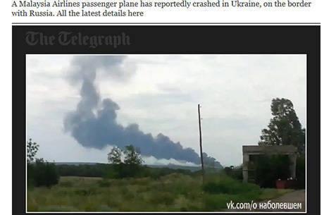 Aeronave da companhia Malaysia Airlines caiu na Ucrânia, perto da fronteira com a Rússia, com 295 pessoas a bordo