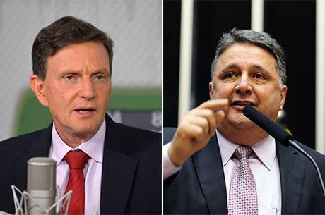 Crivella e Garotinho têm 24% das intenções de voto, cada, no RJ