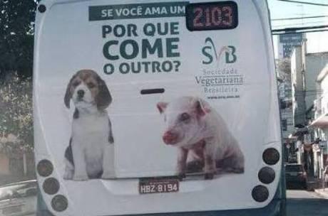 Anúncio tenta provocar simpatia para animais normalmente destinados ao consumo