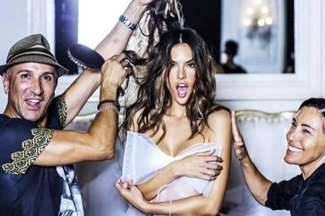 03e2d9469 Sexy! Alessandra Ambrosio posa nua enrolada em laço - R7 Meu Estilo ...