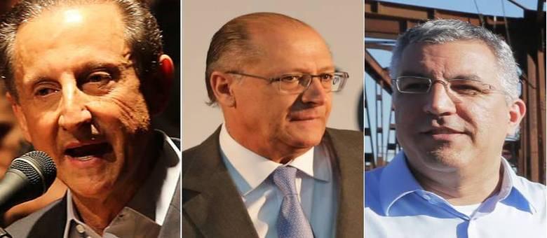 Skaf e Padilha lutam entre si na disputa por uma vaga contra o atual governador Geraldo Alckmin no segundo turno