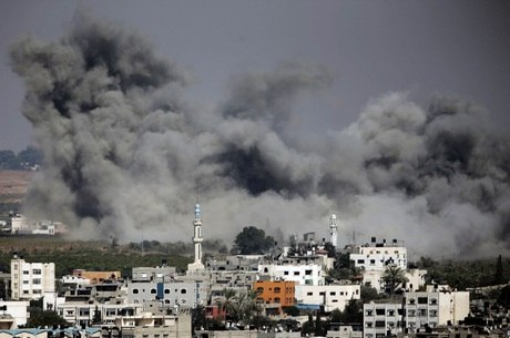 Os bombardeios continuam em Gaza