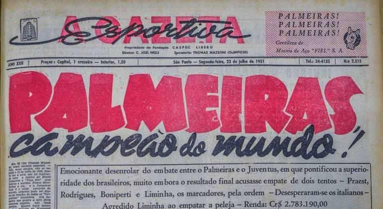 Jornais da época discordaram sobre a importância do título do Palmeiras