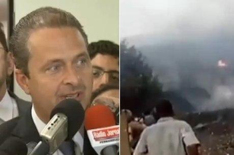 Eduardo Campos viajava do Rio de Janeiro para o Guarujá
