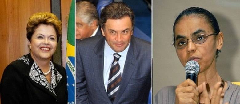 Dilma Rousseff, Aécio Neves e Marina Silva disputam a Presidência em 2014