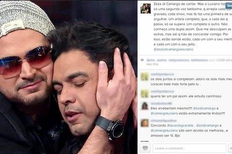 Graciele Lacerda defende o talento do cunhado, Luciano, na web