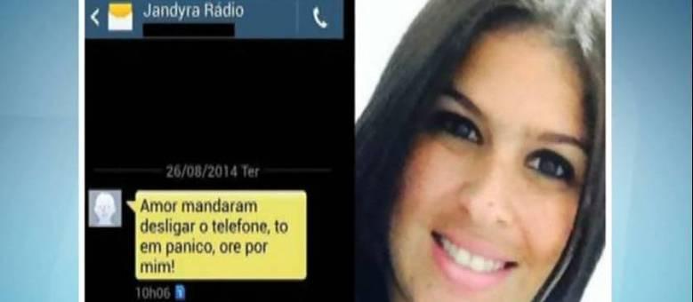 Antes de desaparecer, em 26/8, Jandira Cruz pediu, via mensagem de celular, que o ex-namorado orasse por ela