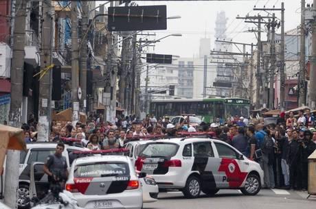 Após a morte do vendedor ambulante, houve confronto na Lapa