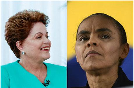 No segundo turno, Dilma aparece com 42%, contra 41% de Marina
