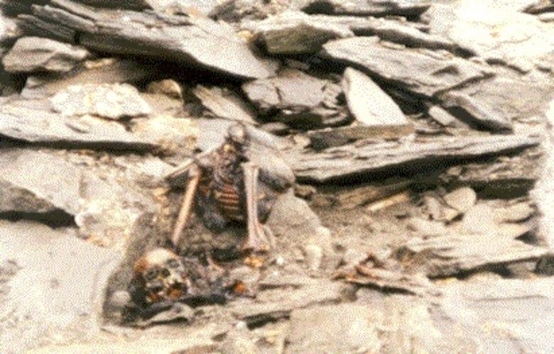 Ele tomou um susto ao dar de cara com crânios, ossos e esqueletos inteiros humanos