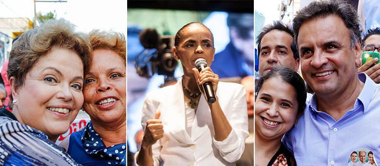 Dilma Rousseff registra 40% das intenções de voto, enquanto a ex-senadora aparece com 27%. Aécio tem 18% dos votos