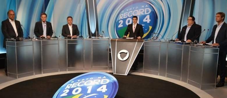 Candidatos ao governo do Estado do Rio participam de debate promovido pela Record Rio