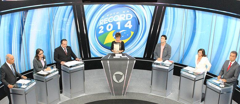 Os seis candidatos ao governo do Estado participaram do debate na Record Bahia