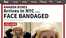 Amanda Bynes é flagrada com curativo grande no rosto e pessoas próximas dizem que ela vive drogada