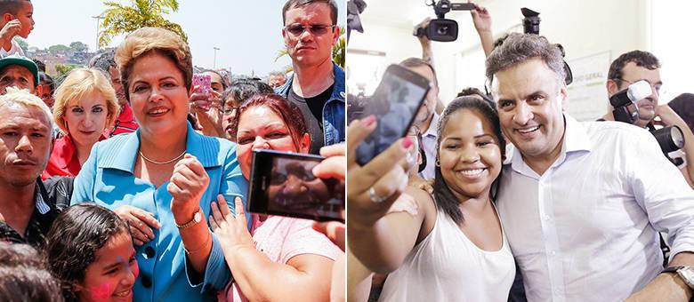 Considerando apenas votos válidos, Dilma aparece com 51%, enquanto o tucano tem 49%. Também há empate técnico
