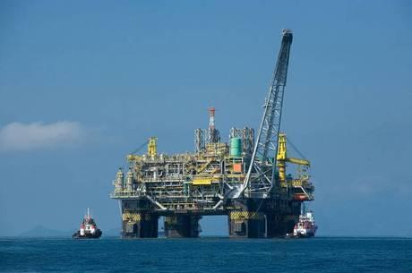 Uma das plataformas da Petrobras